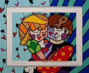 Romero-britto-blue-couple