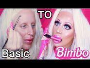BIMBO DOLL MAKEUP TUTORIAL *how to look like a bimbo*