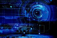 High tech circles binary world map