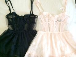 Pink-black-lingerie