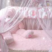 (AES) babycore pink bedroom