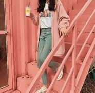 A cozy Peachy Vintage outfit
