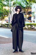 All Black Harajuku Minimalist