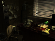 Horror academia office and desk