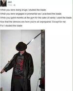 Mall ninja blade meme