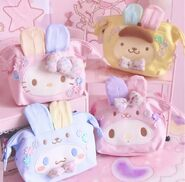 Kawaii Bowknot My Melody Kitty Gemini Cosmetic Bag Makeup Storage Case Portable