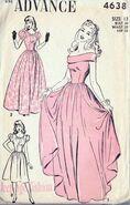 Vintage pink dress pattern