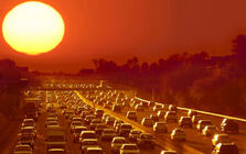 Heat-city-traffic