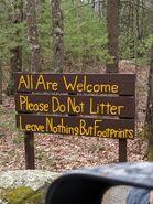 No litter!