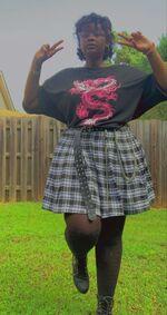 Alternative fashion dragon shirt