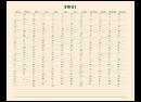 POSTALCO One Year Wall Calendar 2021