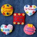 Clown badges