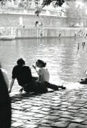 Paris, Square du Vert-Galant, photographed by Claude Renaud, 1963