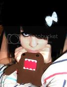 Emo Girl with Domo Plushie
