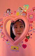 Bibi with pink mirror
