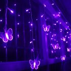 Outdoor Fairy icicle led butterfly curtain light