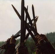 Swords-raised