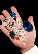 Hand with jewels