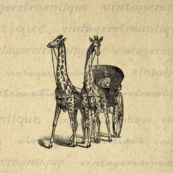 Giraffe carriage antique digital graphic no 298 by vintageretroantique-d5knily.jpg