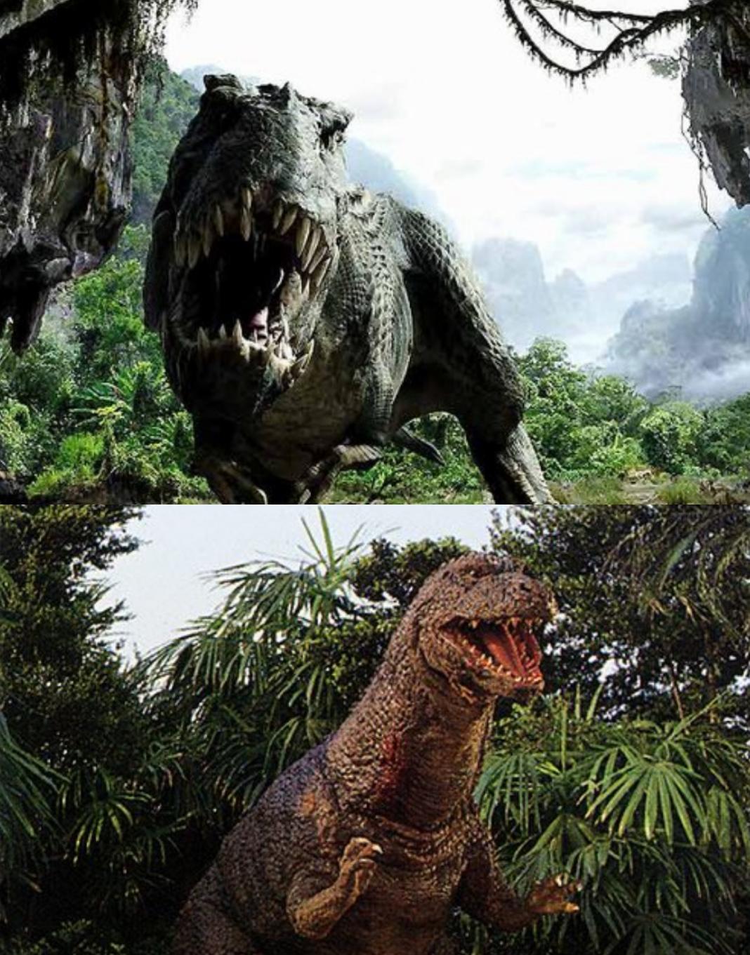 V rex vs Godzillasaurus