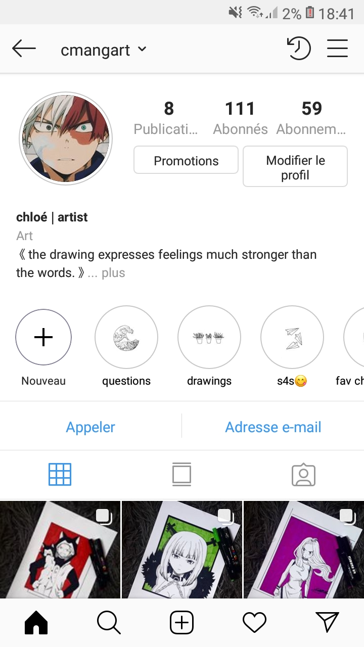 Mon compte Instagram !
