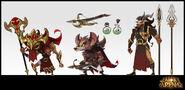 The Dragon Slayers Model Sheet