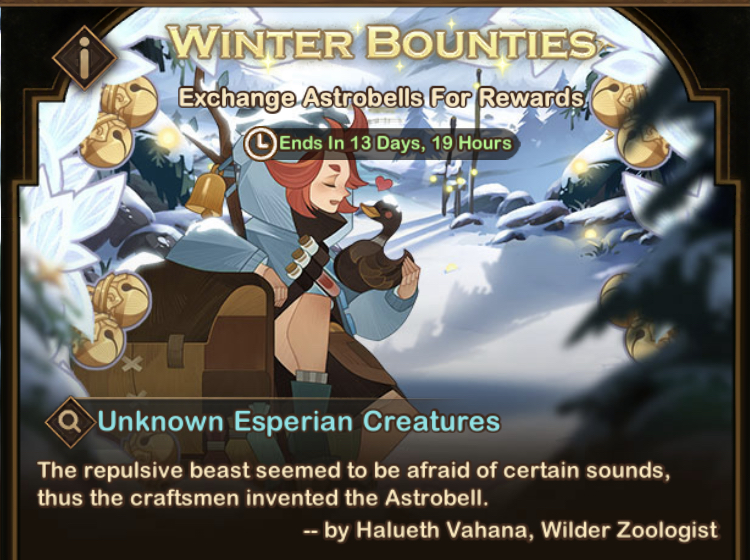 Winter Bounties Event
