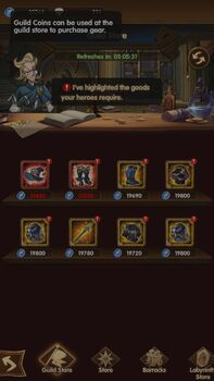 An example of a player's Guild Store.