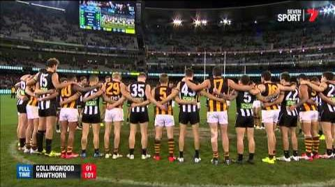 United in grief they stand as one- AFL