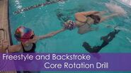 Freestyle and Backstroke Core Rotation Drill