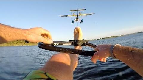 GoPro Airplane Waterskiing