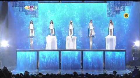 121229 SBS Gayo Daejun - Mystic White - Mermaid Princess - Jiyoung, Bora, Lizzy, Sunhwa, Gayoon