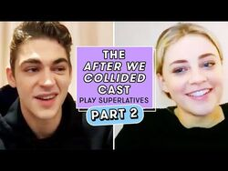 """Hero Fiennes Tiffin and Josephine Langford from """"After We Collided"""" Play Superlatives"""