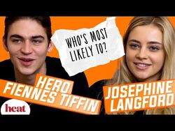'I'm guilty of not replying to the After group chat' - Hero Fiennes Tiffin & Josephine Langford