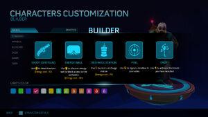 Builder Help Screen