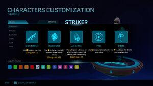 Striker's Help Screen