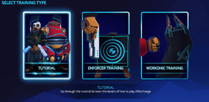 select training type