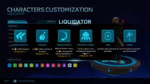 Liquidator help screen