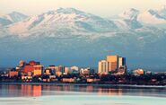 Anchorage on an April evening