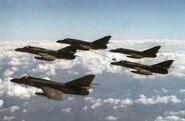 Super Etendards in flight and refueling 1988