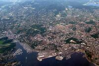 An aerial view of Oslo.