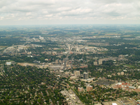 An aerial photograph of downtown Waterloo as seen on September 17th, 2011.