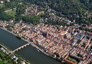 Heidelberg Altstadt Schloss Luftbild