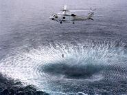 SH-60F Seahawk dipping sonar