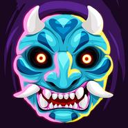 Samurai war mask hi