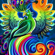 Chromatic peafowl