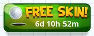 Golf Battle - Free Skin! Button (HQ)