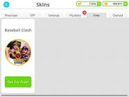 Baseball Clash - Skins Shop