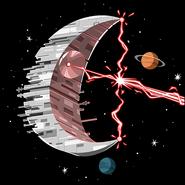 Dawn moon ship