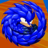 Retro blue swirl